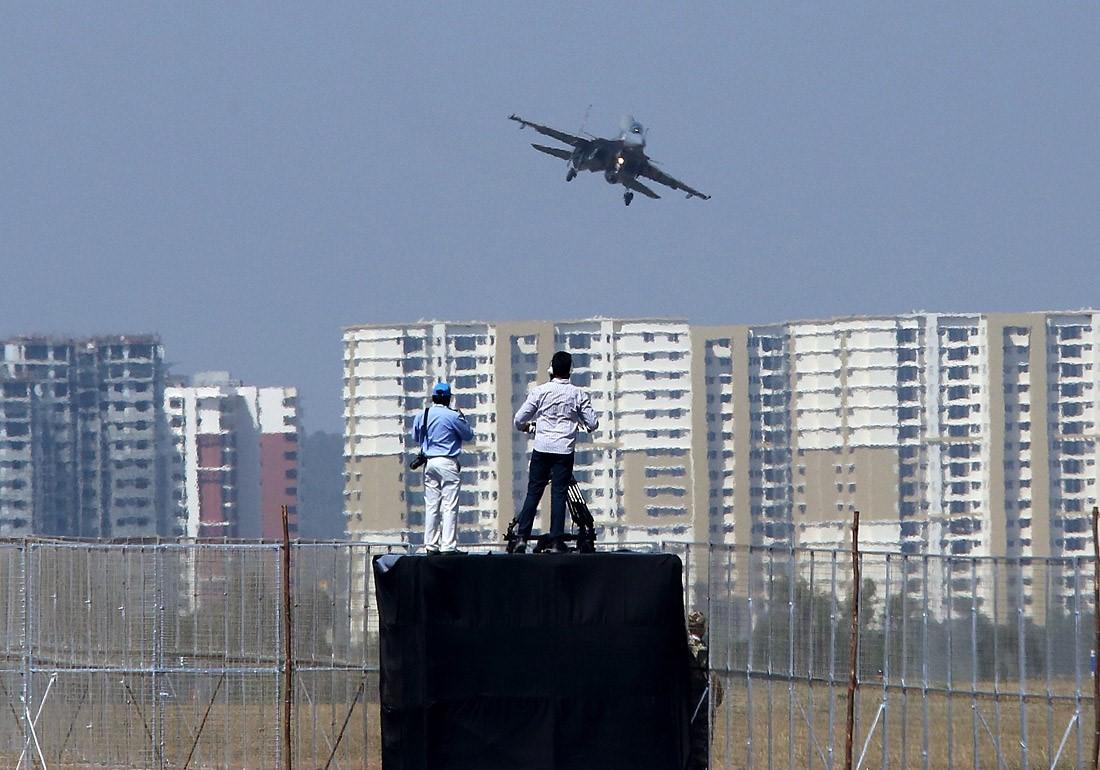 Су-30 на открытии выставки