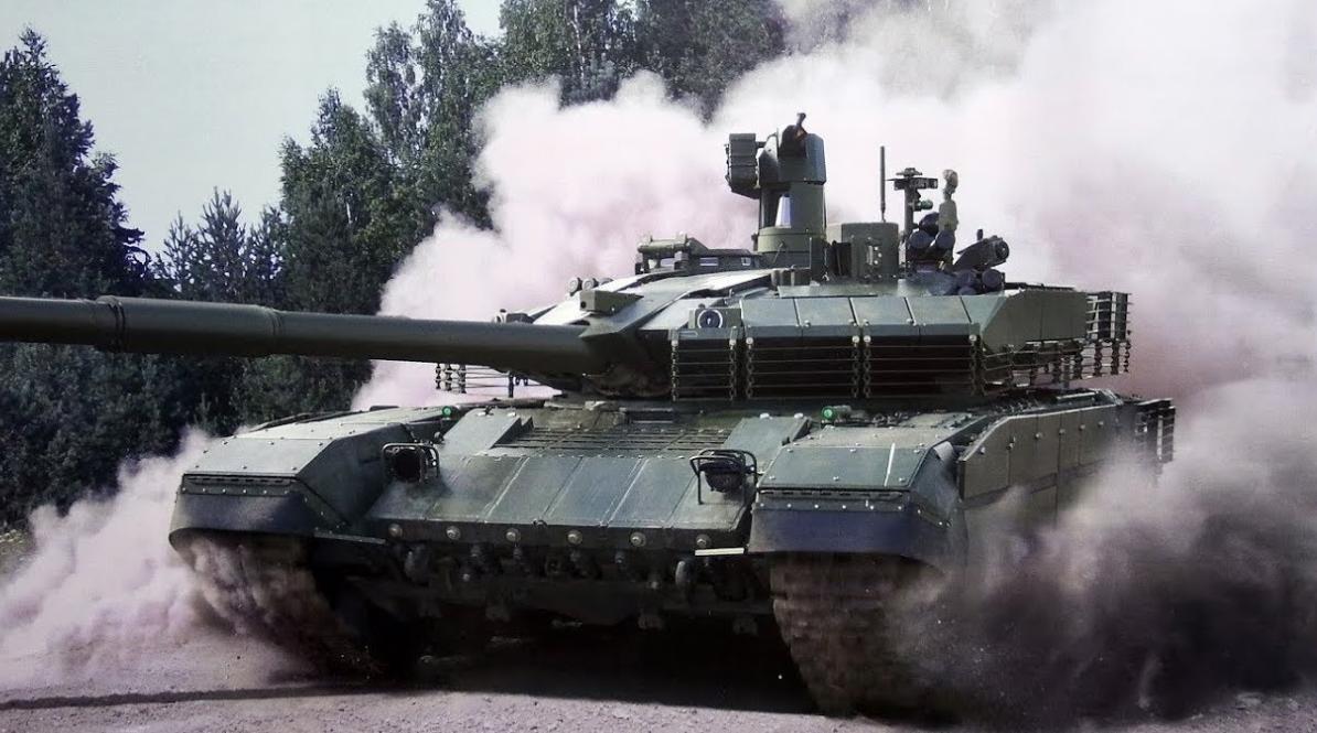 Танк Т-90М на полигоне