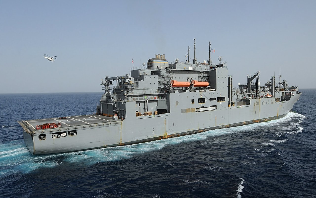 Участник столкновения, корабль ВМС США Robert E. Peary