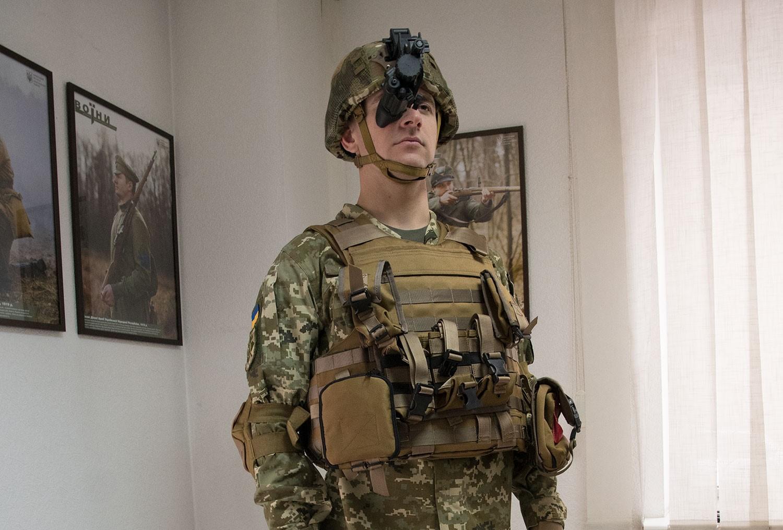 Украинский солдат с тепловизором