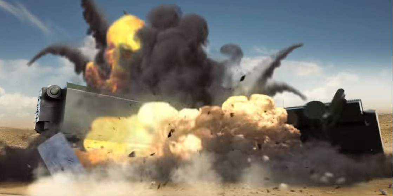 Уничтожение цели израильским дроном