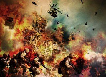 Вертолеты атакуют пехоту