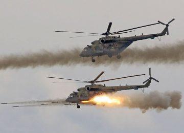 Запуск «Бронебойщика» с вертолета