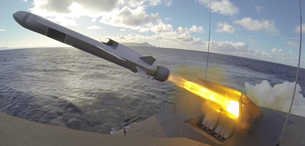 Запуск корабельной ракеты