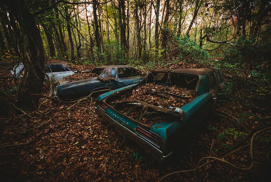 Автомобильное кладбище в штате Джорджия