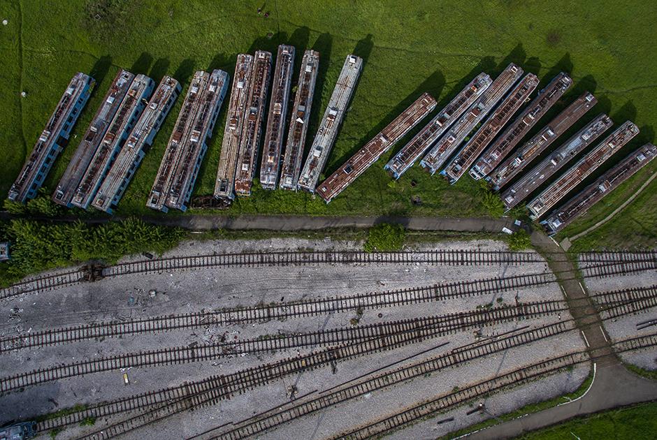 Брошенные поезда в Белграде