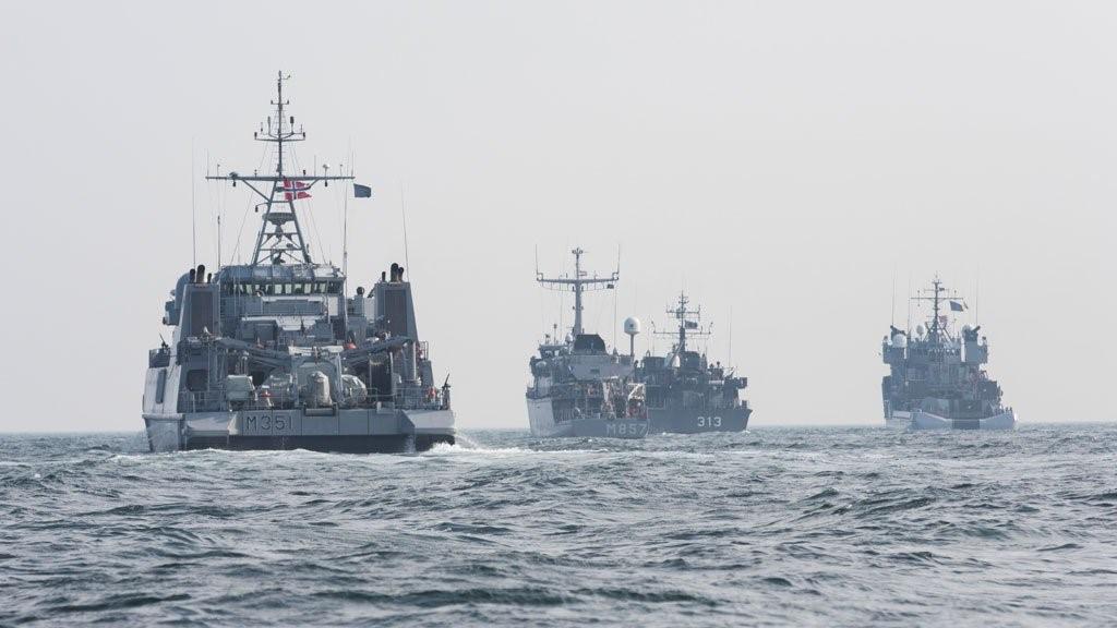 Эскадра кораблей в Черном море