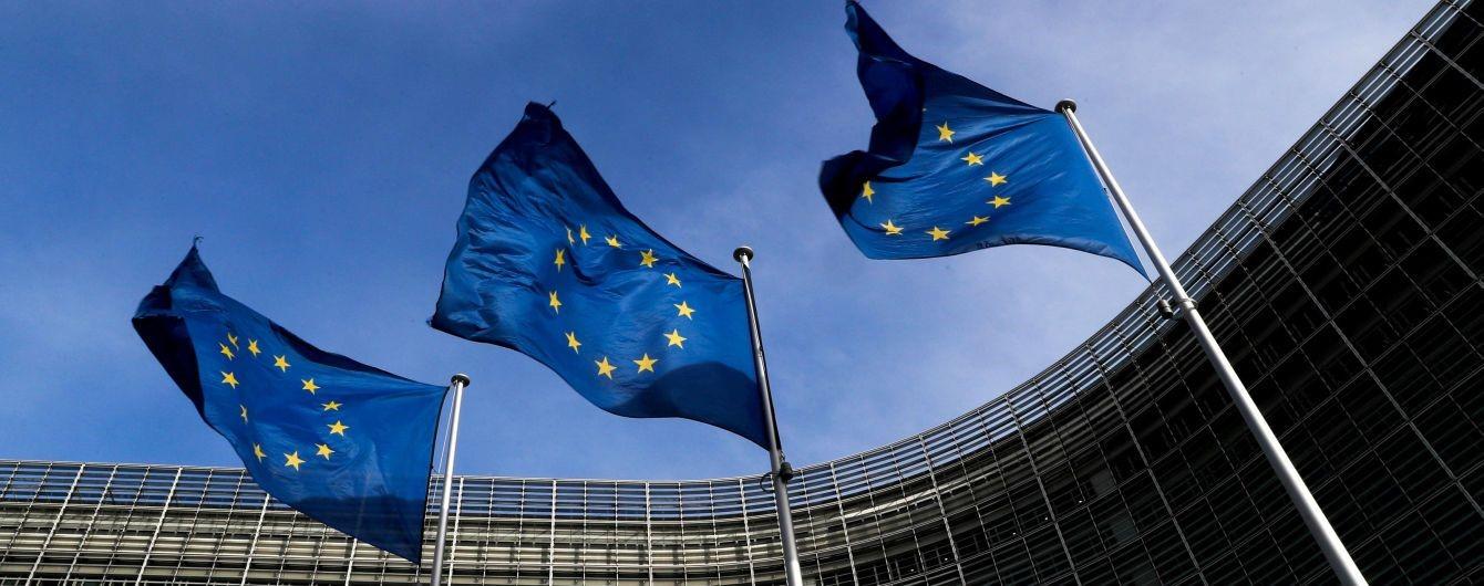 Флаги ЕС у штаб-квартиры