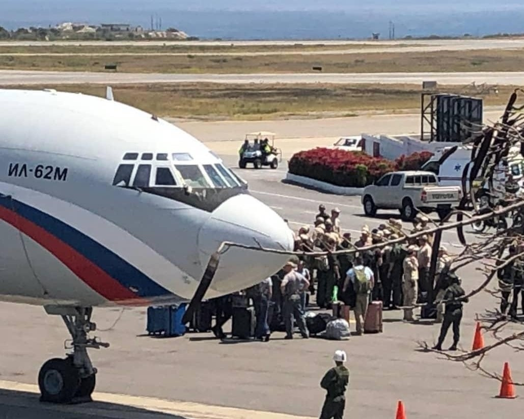 Ил-62М прилетел в Венесуэлу