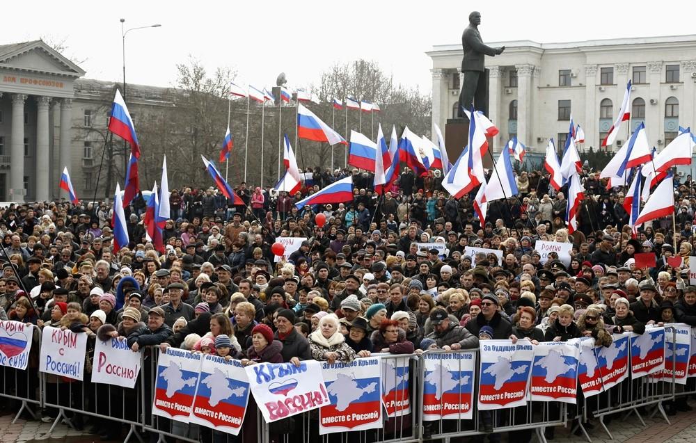Крымчане выбирают Россию