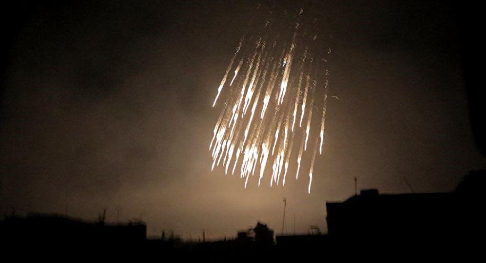 Ночная бомбардировка города