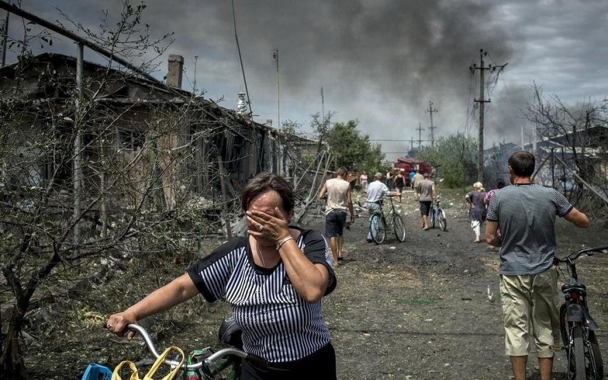 Обстрел пригорода Донецка