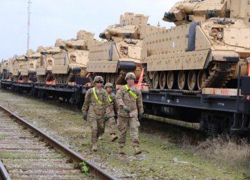 Отправка танков по железной дороге