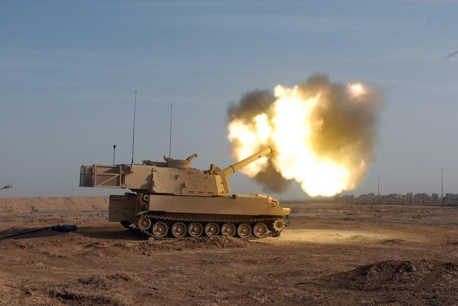 Полигонные испытания M109A7