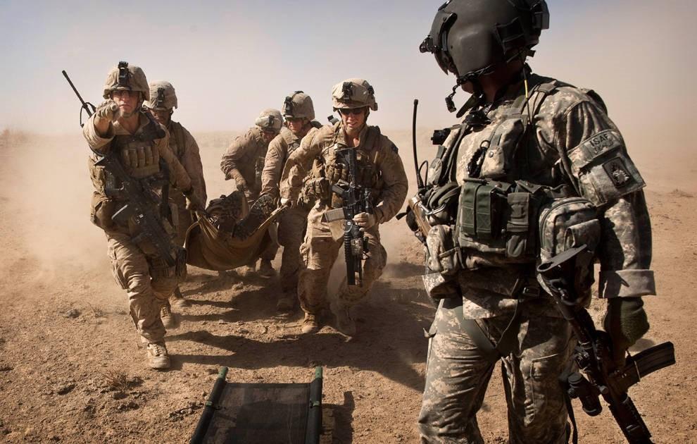 Раненый американский солдат