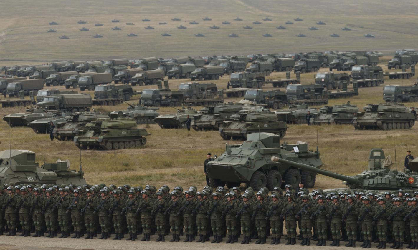 Российская бронетехника на учениях