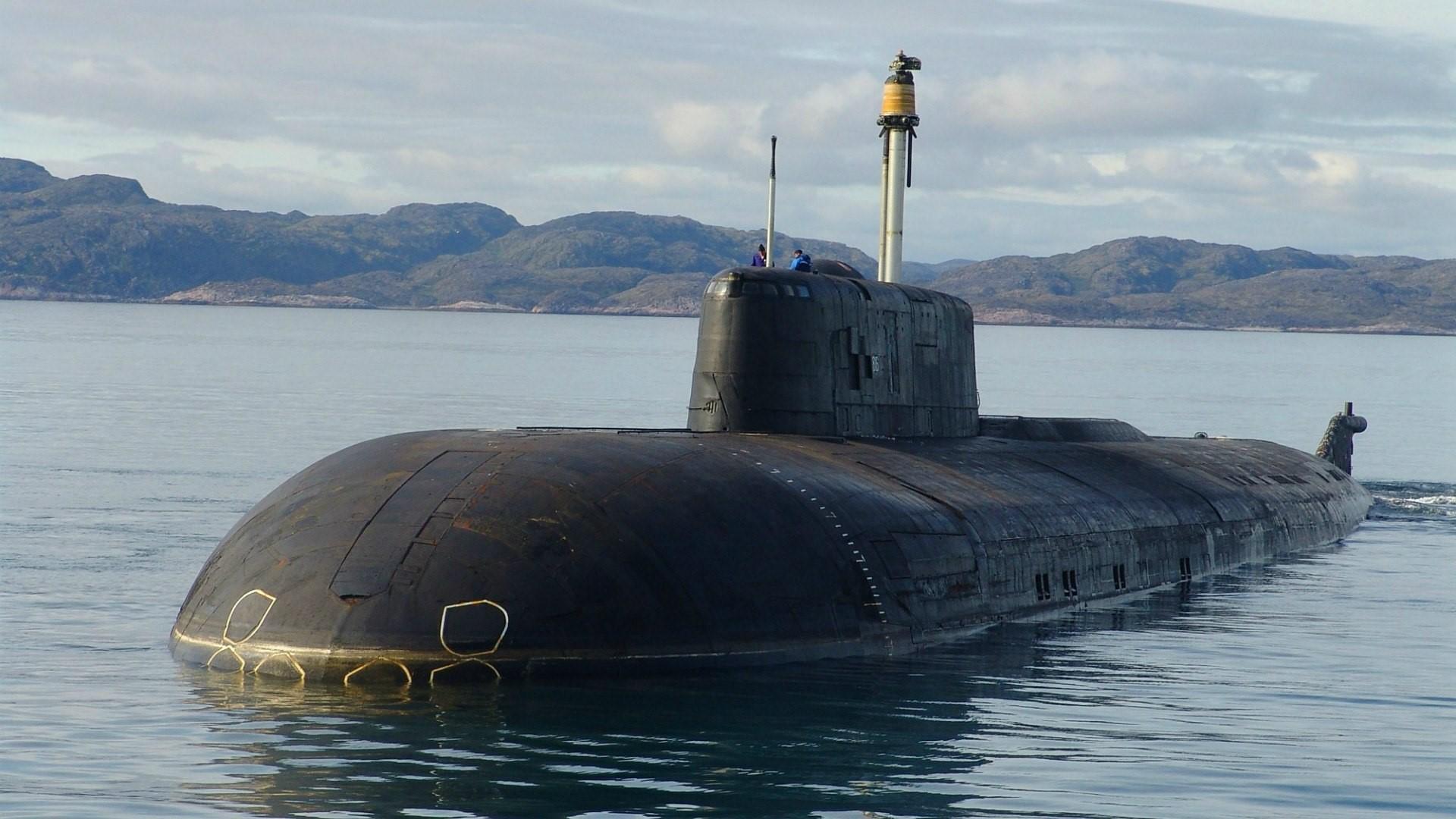 Российская субмарина перед погружением