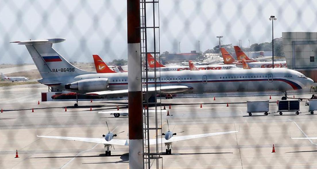 Российский самолет в аэропорту Каракаса