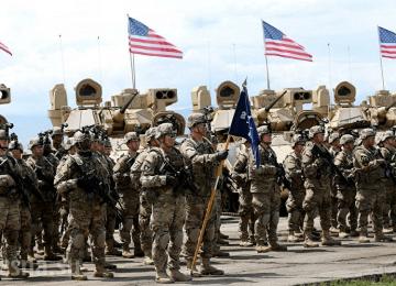 Солдаты США в полной боевой подготовке