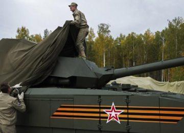 Танк укрывают защитой от электромагнитного оружия
