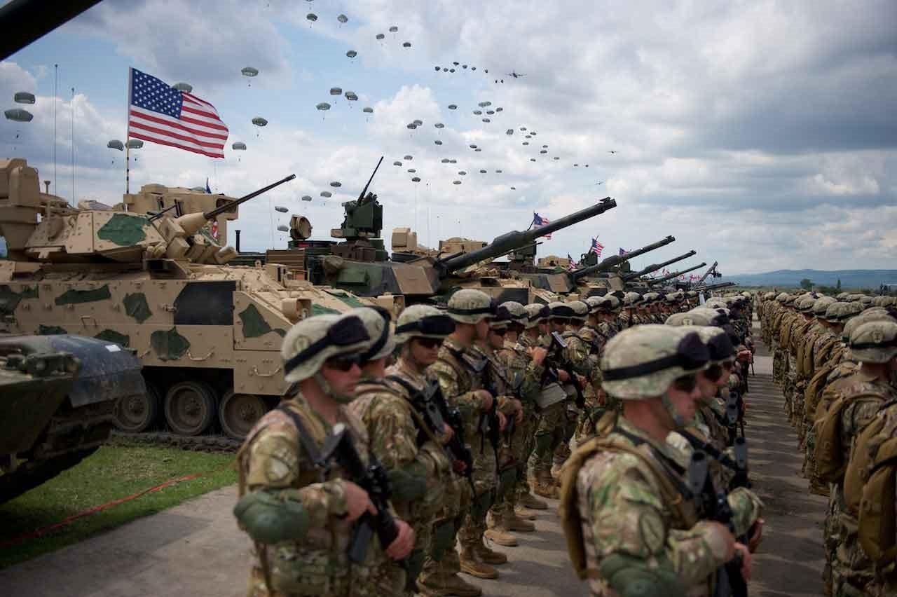 Танки и пехота США