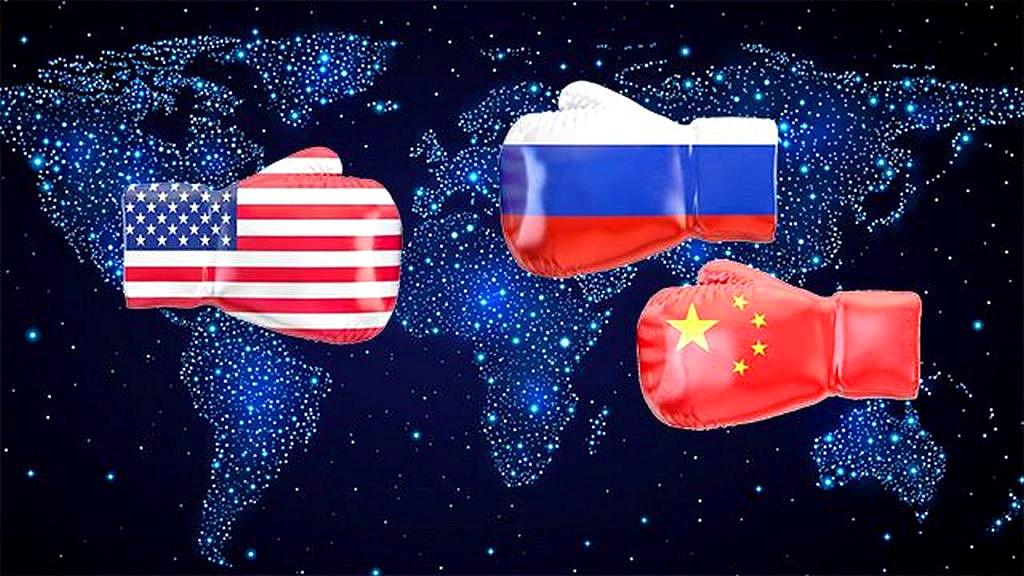 Три супердержавы на карте мира