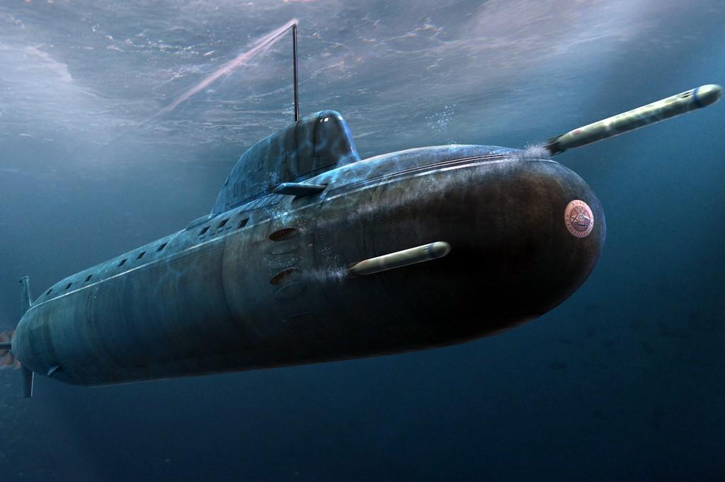 Запуск торпед с «Ясеня»