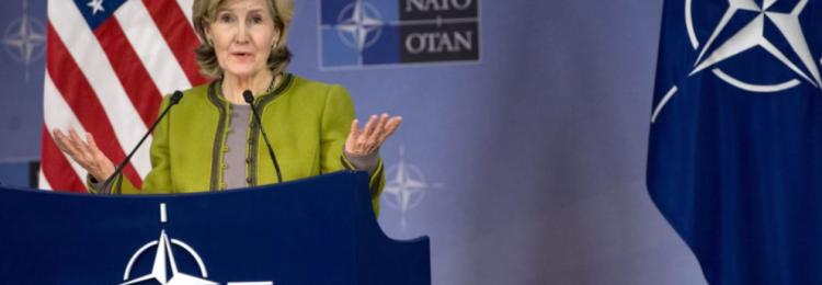 Бейли Хатчисон выступает на заседании НАТО