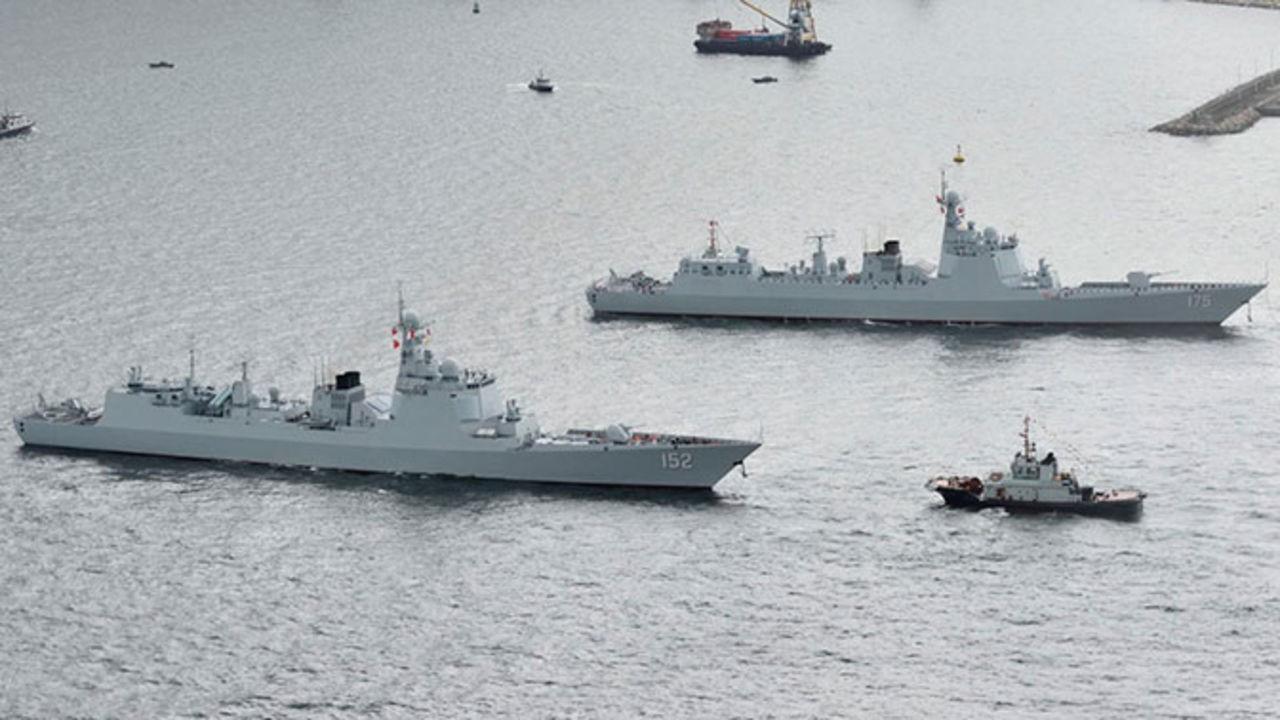 Эскадра китайских военных кораблей