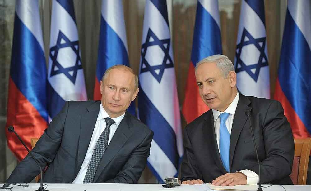 Лидеры Израиля и России
