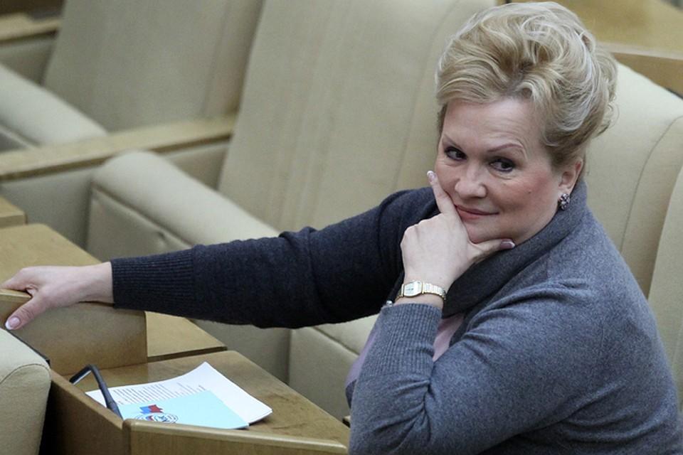 Любовь Слиска на заседании Госдумы