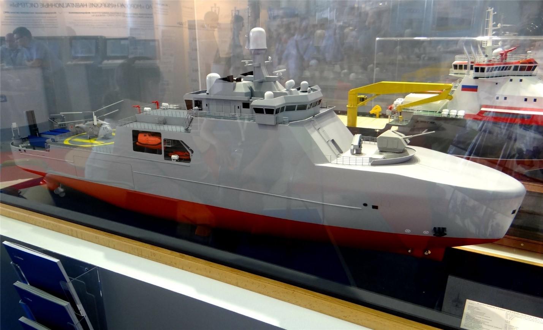 Макет корабля проекта 23550