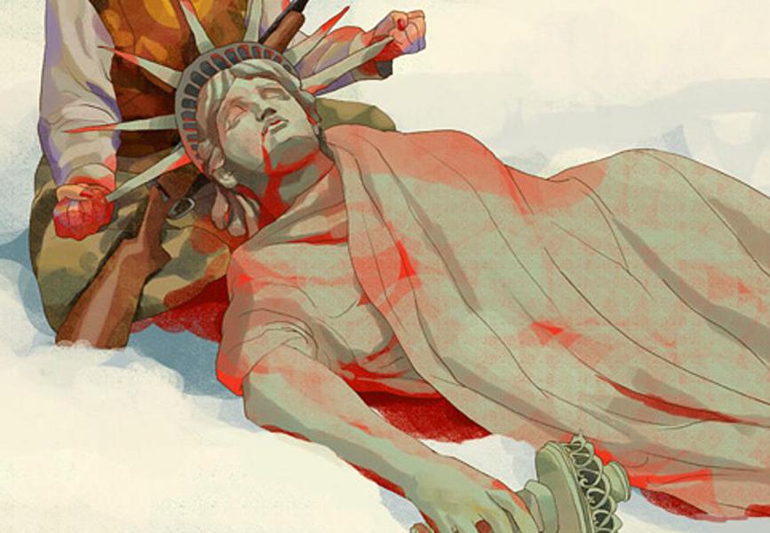 Окровавленная Статуя Свободы