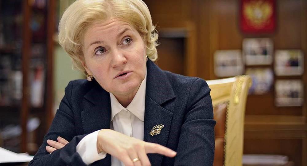 Ольга Голодец в своем кабинете
