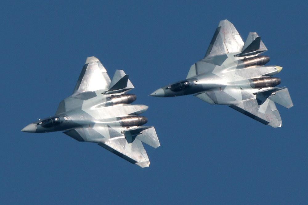 Российские истребители  Су-57