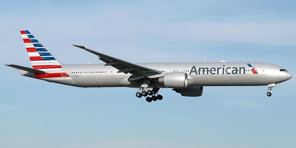 Самолет американской авиакомпании