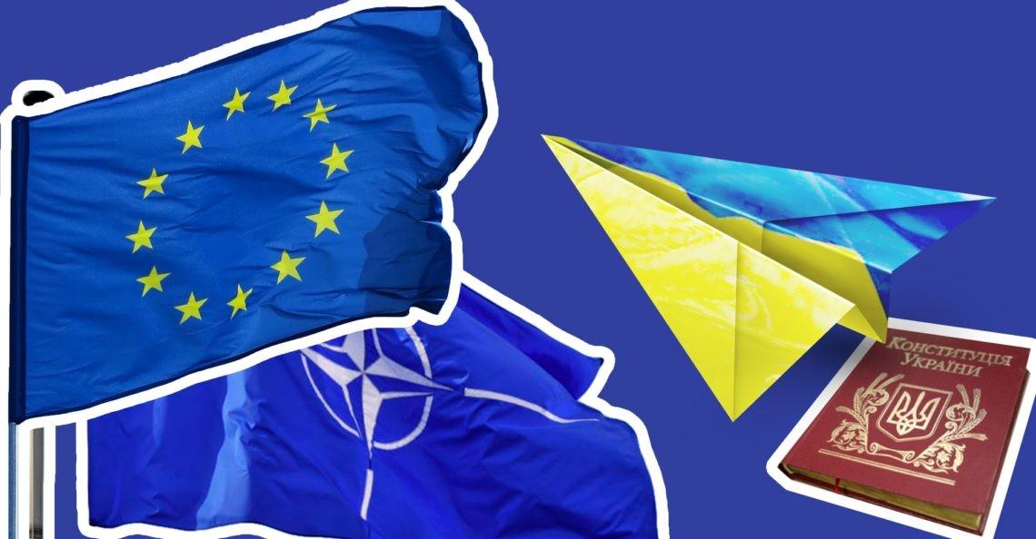 Самолетик из украинского флага