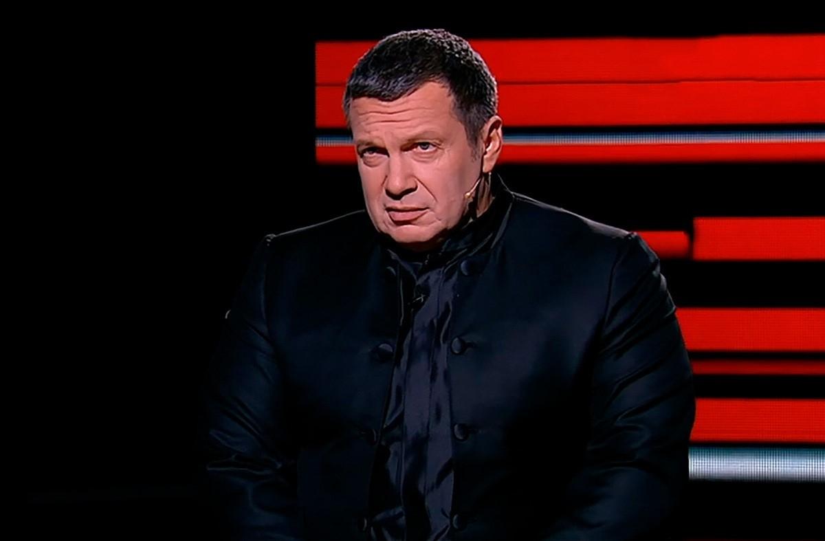 Соловьев в студии телеканала