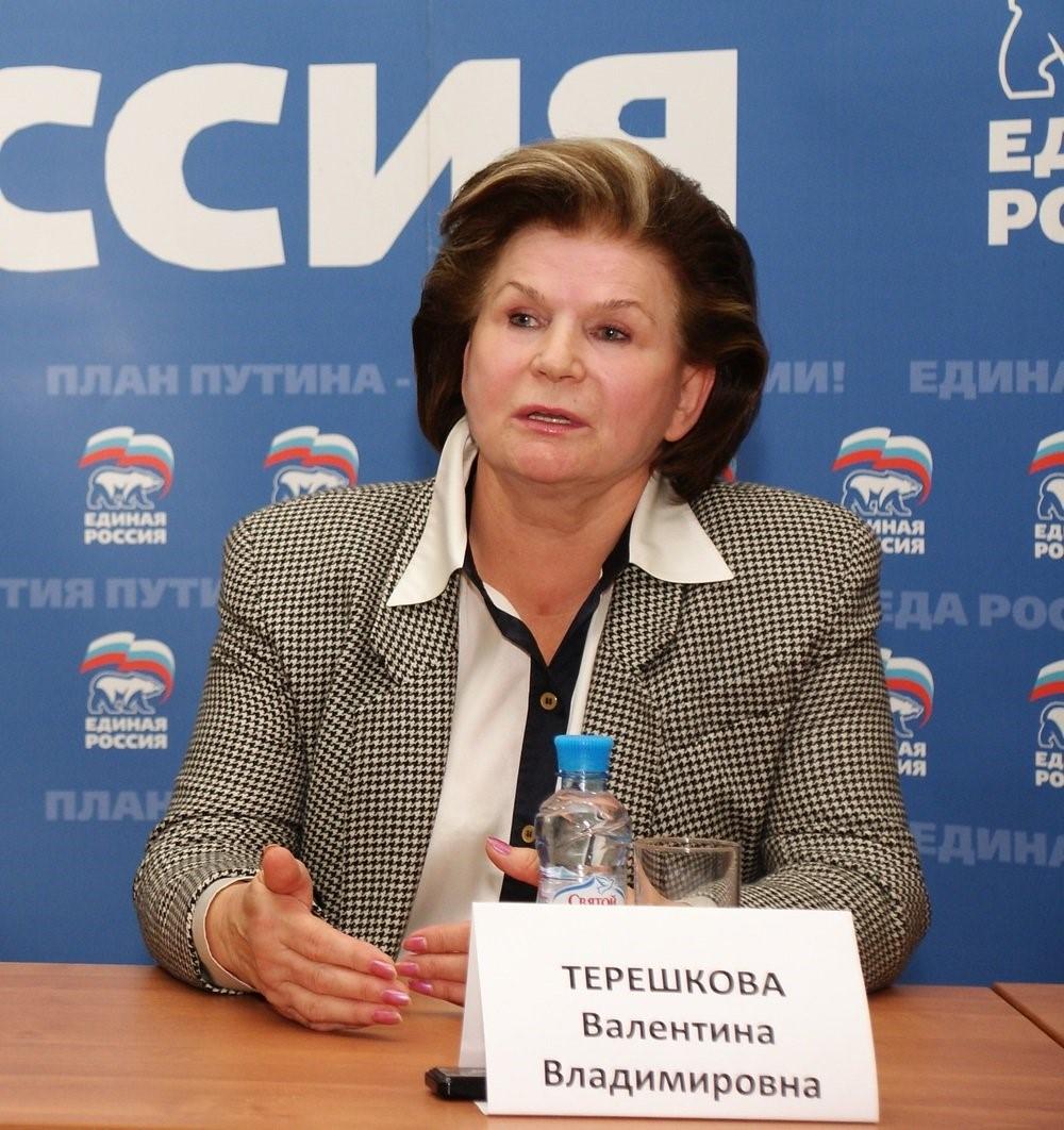 Терешкова дает интервью