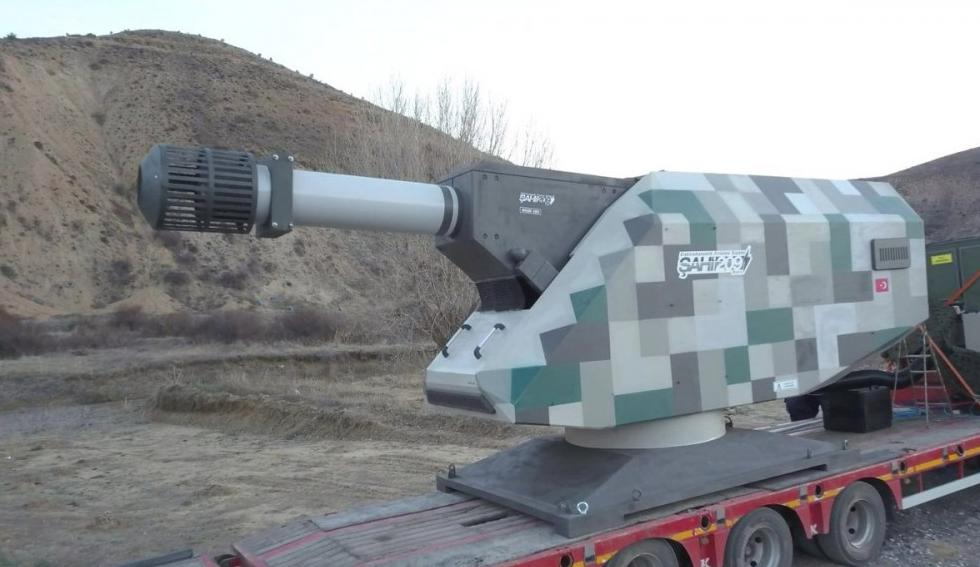 Турецкая электромагнитная пушка