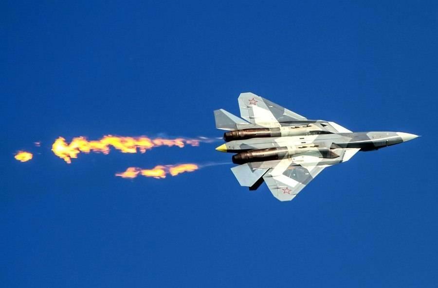 Воздушное маневрирование  Су-57