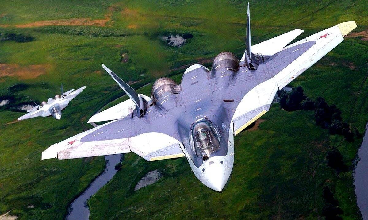 Воздушные маневры Су-57