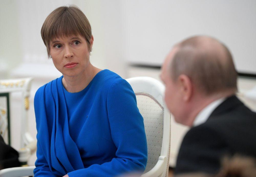 Встреча президентов Эстонии и России