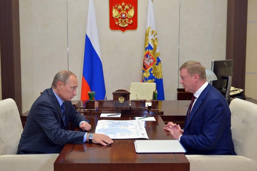 Встреча Путина и Чубайса