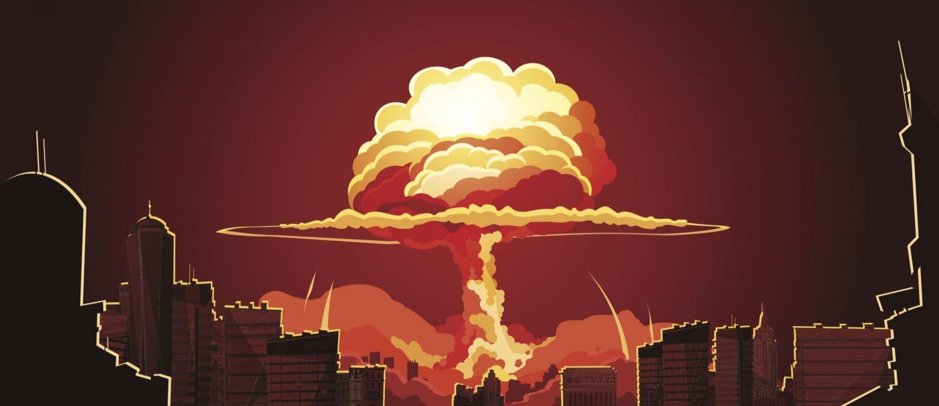 Ядерный взрыв на фоне города