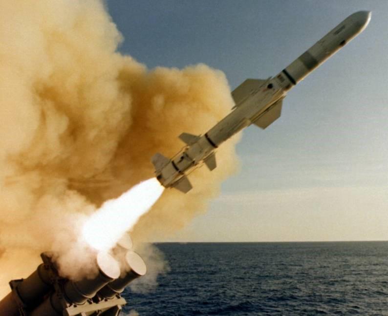 Запуск ракеты «Гарпун»