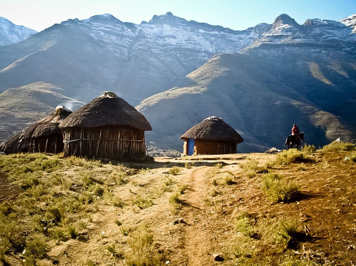 Деревушка в Лесото