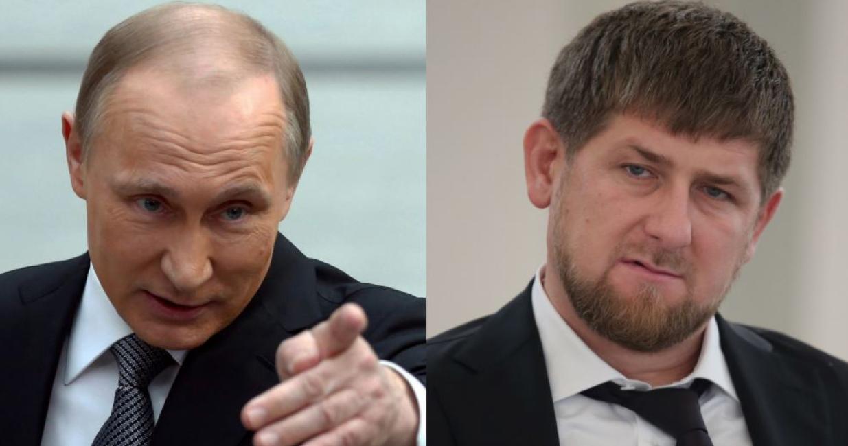 Фото Кадырова и Путина