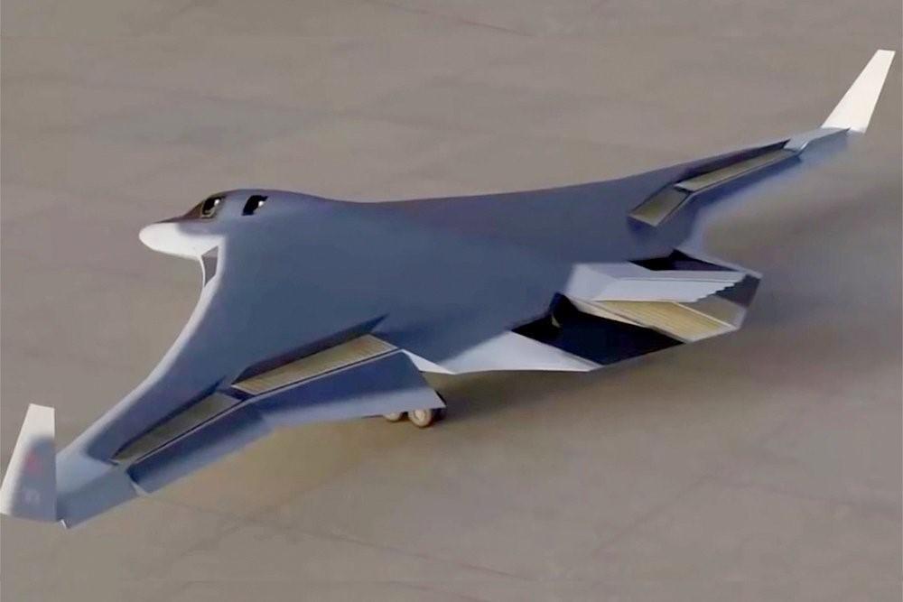 Макет бомбардировщика-ракетоносца ПАК ДА