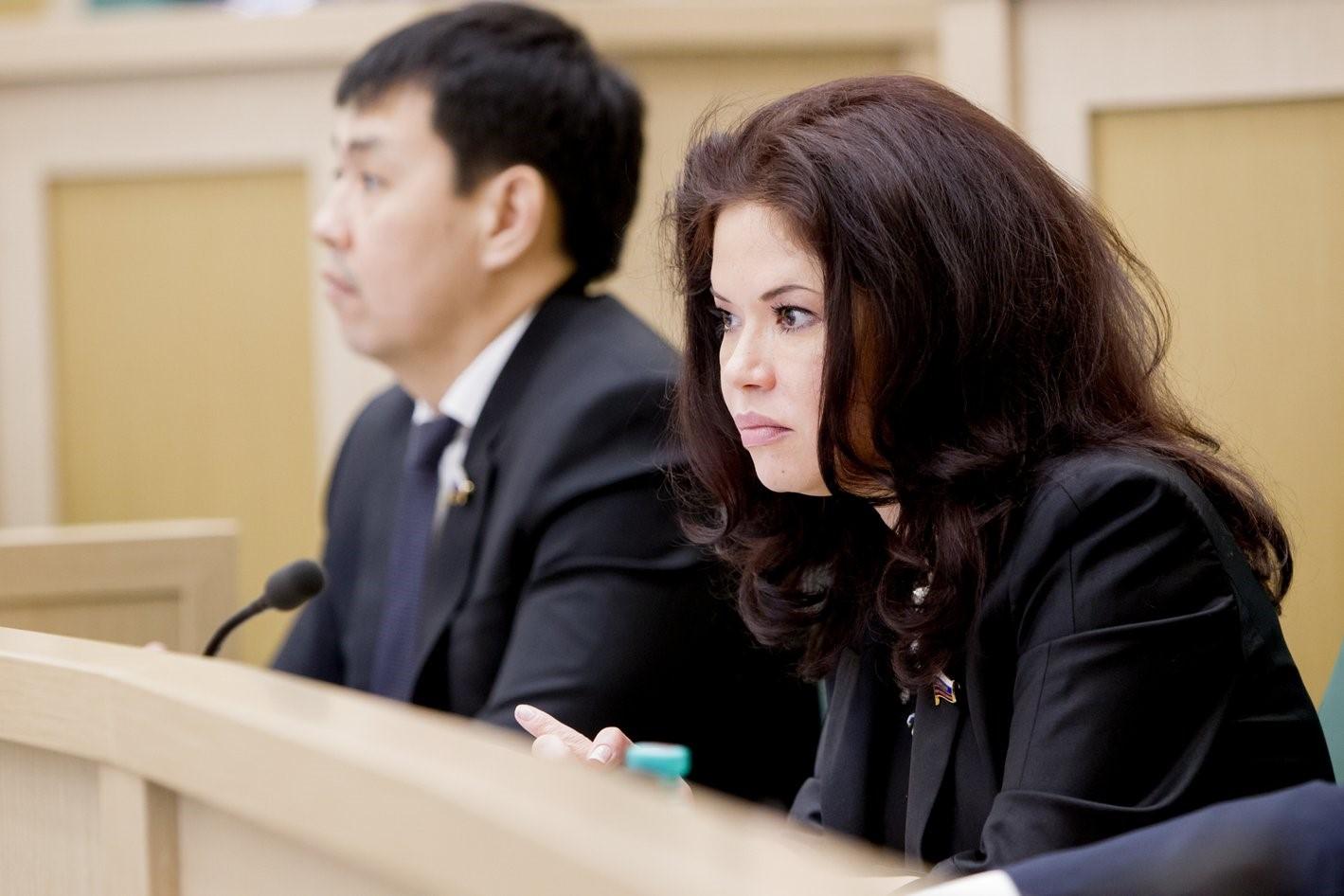 Оксана Бурико в парламенте Республики Тыва